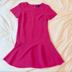 🎀 Banana Republic Pink Ruffle Dress